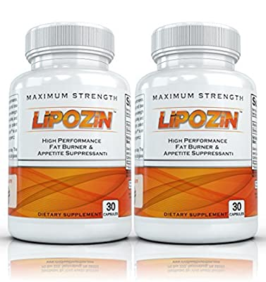 LIPOZIN with Hoodia (2 Bottles) - High Performance Weight Loss and Energy Supplement. Best Fat Burning, Appetite Suppressing Diet Pills by Lipozin High Performance Fat Burner