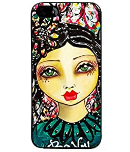 Fuson Colorful Pattern Girl Back Case Cover for APPLE IPHONE 5 - D3861