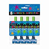 Cosmic Birthday Party Blowers, 8ct