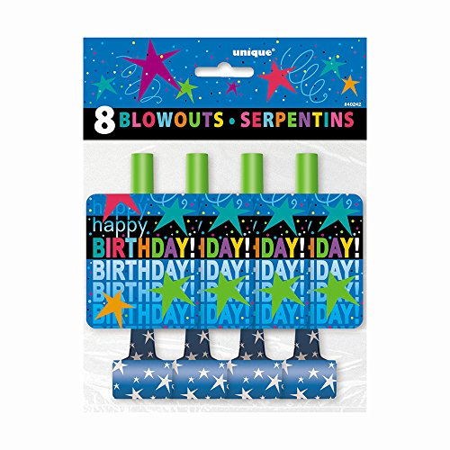 Cosmic Birthday Party Blowers, 8ct - 1