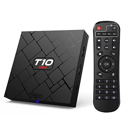 Bqeel T10 MINI Android TV Box Amlogic S905 Quad Core 4K salida 1G / 8G con Flash Smart Tv Player Wifi preinstalado con Full Loaded Kodi 16.1 Streaming Media Player