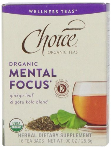 Choice Organic Teas Tea Bag, Mental Focus, 16 Count