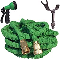 75 Foot Expandable Garden Hose, Strongest Expanding Garden Hose. Solid Brass Fittings, Patented Stainless Steel...
