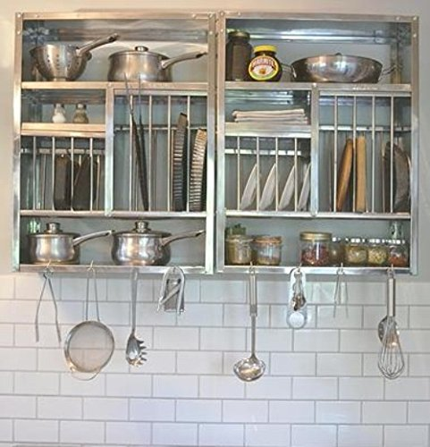 Kitchen Wall Accessories Stainless Steel: Buy Vidya Steels Medium Stainless Steel Plate Rack For