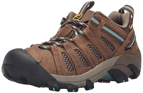 KEEN Women's Voyageur Shoe, Dark Earth/Lagoon, 6.5 M US