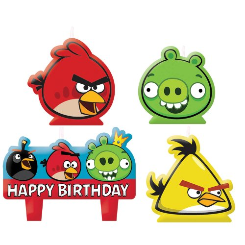 Angry Birds Birthday Candles - Birthday and Theme Party Supplies - 4 Per Pack - 1