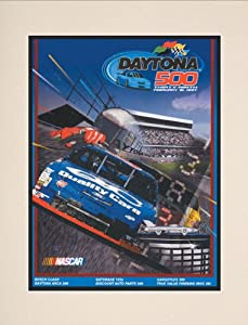 NASCAR Matted 10.5 x 14 Daytona 500 Program Print Race Year: 39th Annual - 1997 by Mounted Memories