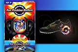 Toy - Funrollers Rollen f�r die Schuhe - gr��enverstellbar bis 80 kg Tragkraft Schwarz mit Leuchten / Licht
