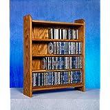 4 Shelf CD Storage (Honey Oak) (Color: Honey Oak)