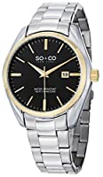 SO&CO New York Men's 5101.4 Madison Analog Display Quartz Silver Watch by SO&CO MFG