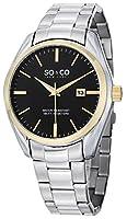 SO&CO New York Men's 5101.4 Madison Analog Display Quartz Silver Watch by SO&CO MFG