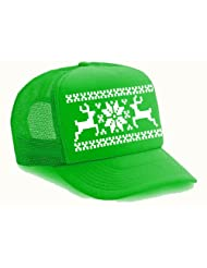 Reindeer Snowflake Trucker Sweater Christmas