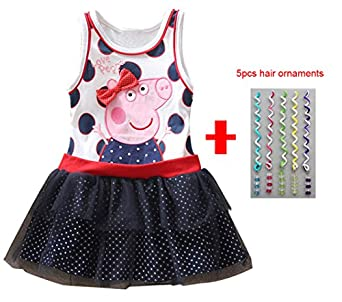 Tutu Birthday Dress Vestido Peppa Pig Girls Party Dress: Clothing