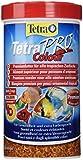 Tetra Pro Colour Premiumfutter Flockenfutter Alleinfutter Hauptfutter für alle tropischen Zierfische, mit Farbkonzentrat für hervorragende natürliche Farbausprägung, Vitaminstabilität und hoher Nährwert, innovative Crisps-Form für minimale Wasserbelastung, hoher Gehalt an Carotinoiden für farbverstärkende Wirkung, ideal für farbenprächtige Fische, geeignet für Futterautomaten, 1 Dose (1 x 500 ml)