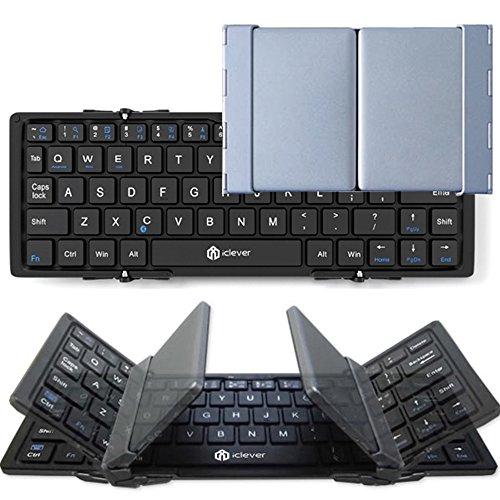 iClever 折りたたみ式Bluetoothキーボード iPhone iPad Andriod 対応 ブラック シルバー IC-BK03