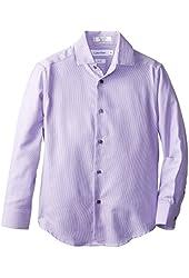 Calvin Klein Big Boys' Long-Sleeve Button-Up Shirt