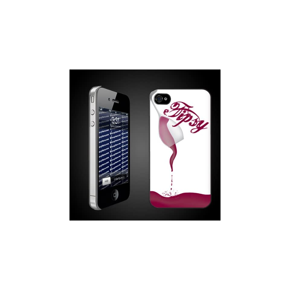 Wine Theme Tipsy   iPhone Hard Case   CLEAR Protective iPhone 4/iPhone 4S Case