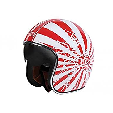 Casque origine sprint japanse bobber blanc/rouge xl - Origine OR002046