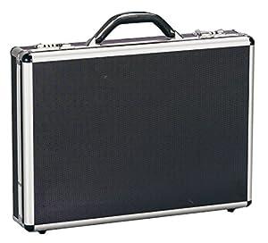 BECO Notebook Koffer geeignet für alle Notebooks bis 19 Zoll und wide screens bis zu einer max. Größe von (Innenmaße) 44.5 x 31.5 x 7.0 cm abschließbar, Material: Aluminium und ABS, Farbe: Schwarz mit silbernen Alu-Profilen und 2 Zahlenschlösser