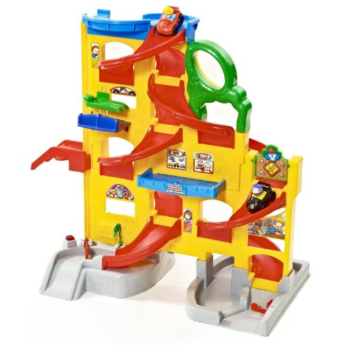 little people wheelies stand n play rampway kids car race ramp toy fisher price