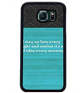PrintDhaba Quote D-3725 Back Case Cover for SAMSUNG GALAXY S6 EDGE (Multi-Coloured)