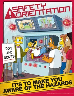 simpsons safety training poster   safety orientation in