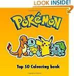 Top 50 Pokemon Colouring Book: Birthd...