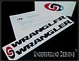WRANGLER JK JKU Jeep Fender Decals 2007-2014 Sticker Kit FLAT BLACK by Underground Designs