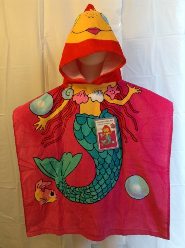 Mermaid Red Hair Hooded Towel