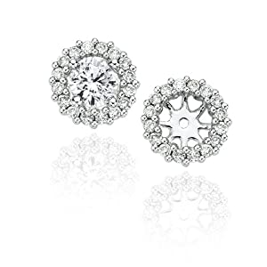 Click to buy 10K White Gold ¼ Carat Diamond Earring Jackets from Amazon!