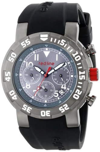 Red Line RPM 50027VD-GUN-014WB 47mm Ion Plated Stainless Steel Case Black Rubber Mineral Men's Watch
