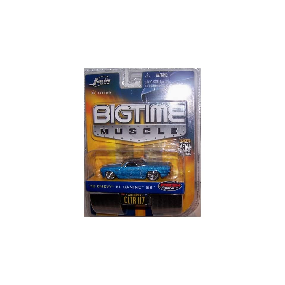 Jada Toys 1/64 Scale Diecast Big Time Muscle 2006 Wave 10 No#117 1970 Chevy El Camino Ss in Color Blue with Black Top
