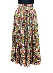 COTTON BREEZE Women's Cotton Regular Fit Skirt(Fp246)