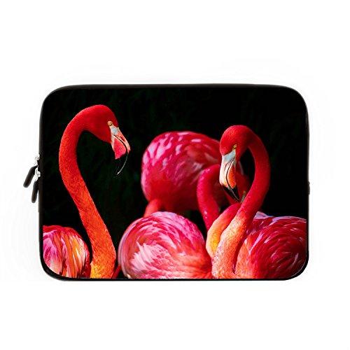 chadme-laptop-sleeve-bolsa-rojo-flamingo-sobre-fondo-negro-notebook-sleeve-casos-con-cremallera-para
