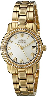 Invicta Women's 18079 Specialty Analog Display Swiss Quartz Gold Watch