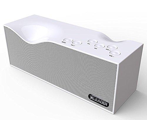 【新しいバージョン】Xleader Bluetooth スピーカー B1【 高品質ステレオ / LEDスクリーン付け / 内蔵2000mAhリチウム電池】(パールホワイト)