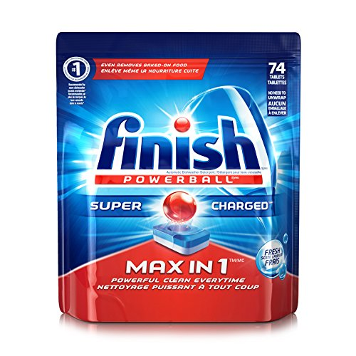 Finish Max in 1 Powerball, 74 Tablets, Super Charged Automatic Dishwasher Detergent, Fresh Scent (Dish Tabs compare prices)