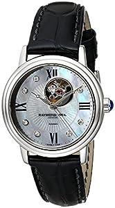 Raymond Weil Women's 2627-STC-00994 Maestro Analog Display Swiss Automatic Black Watch