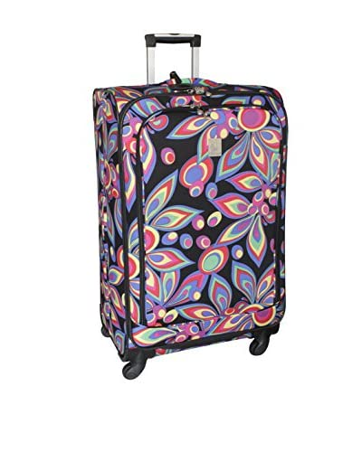 Jenni Chan Wild Flower 28 Inch 360 Quattro Upright Spinner, Multi Color