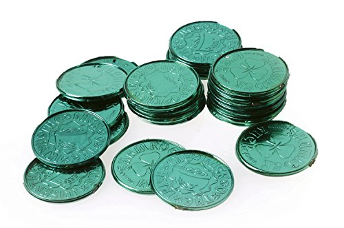 Lot Of 144 Green St. Patty's Day Good Luck Coins - 1 3/8""