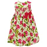 Donita Sleeveless Smocked Flower Dress