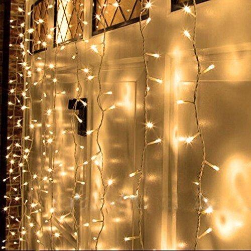6MX3M 24V Safe Voltage Christmas Curtain Lights Window Curtain ...