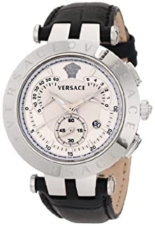 """buy Versace Men'S 23C99D002 S009 """"V-Race"""" Watch With Leather Band"""