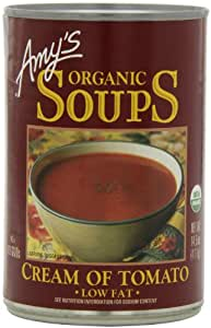 Amy's Organic Soups, Low Fat Cream of Tomato Soup, 14.5 Ounce (Pack of 12)