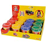"Simba Art And Fun ""Soft Dough Pots In Display"" 140 G. In 4 A, Multi Color"