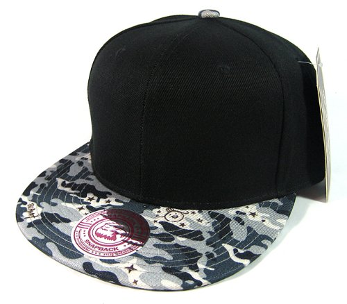 Fashion Snapback Hats - Black | Gray Camo at Amazon.com