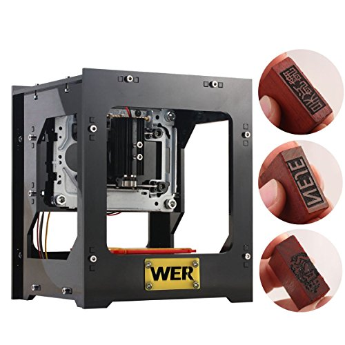 WER 1000mW USB DIY Laser Engraver Printer Mini Art Craft Science Industry Laser Engraving Cutting Machine