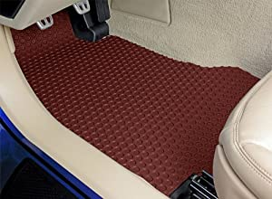 Eagle Medallion Lloyd Mats All Weather Rubber Floor Mats Front and Rear Set - Burgundy (1988 88 1989 89 1990 90 )