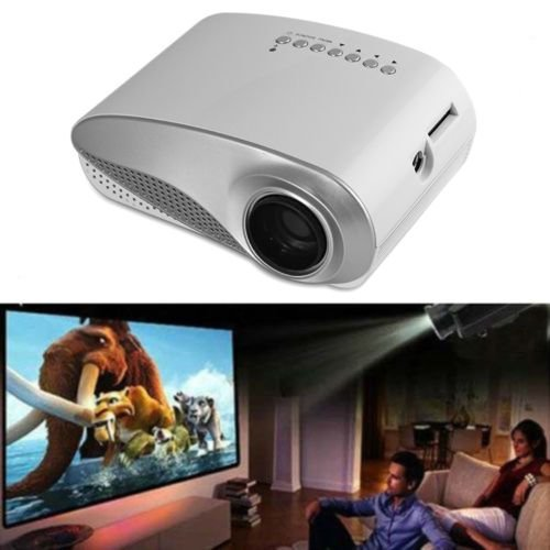 Aketek® Newest Lcd Home Theater Cinema Projector Led Multimedia Portable Video Pico Micro Small Mini Projector Full Hd With Hdmi Usb Sd Av Vga Tv Interface For Pc & Laptop(White)