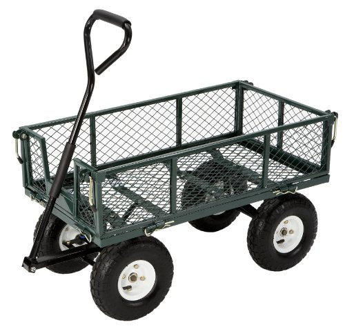 Tricam FR110-2 Farm &amp; Ranch 400-Pound Capacity Steel Utility Cart, Green